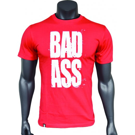 BAD ASS T-shirt Double Neck - model 01 RED