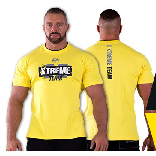 FA Nutrition T-Shirt XTREME TEAM - Yellow