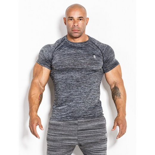 Kevin Levrone T-shirt 01 LM Compression Dark Grey