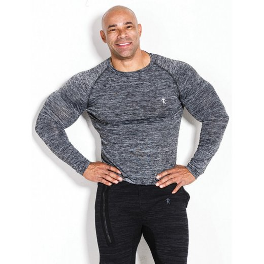 Kevin Levrone Longsleeve 01 LM Compression Dark Grey