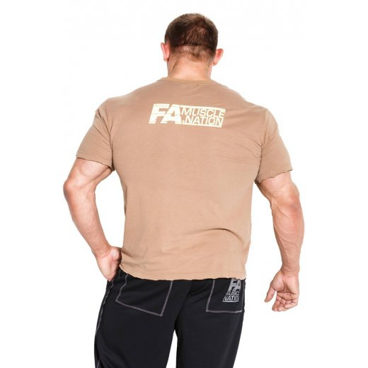 FA Muscle Nation T-shirt 01 Basic Washed Brown