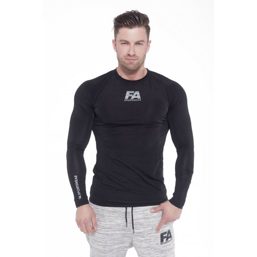FA Sportswear Longsleeve 01 Compression Dark Black