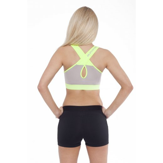 FA Sportswear Bra 01 W Form Grey-Neon Flash