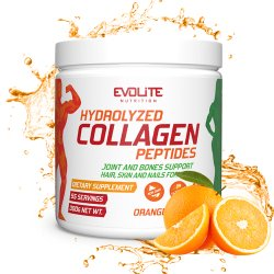 Evolite Nutrition Hydrolyzed Collagen Peptides 300g Orange