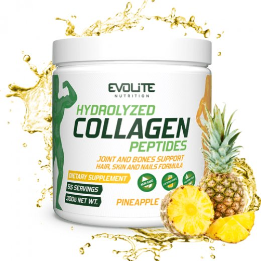 Evolite Nutrition Hydrolyzed Collagen Peptides 300g Pineapple