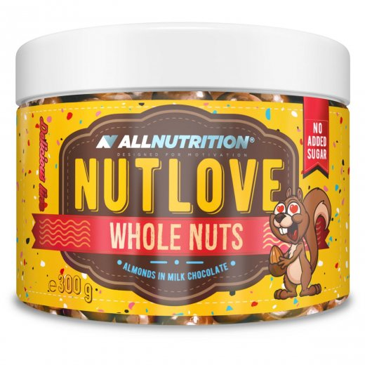 Allnutrition Nutlove Whole Nuts 300g ALMONDS IN MILK CHOCOLATE