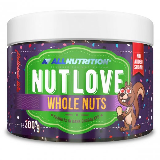 Allnutrition Nutlove Whole Nuts 300g PEANUTS IN DARK CHOCOLATE
