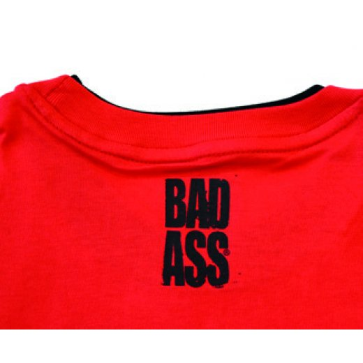 BAD ASS T-shirt Double Neck - model 03 RED